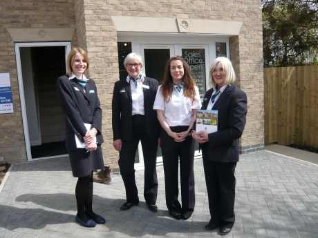 The lovely Peter Ward Homes Sales Team.