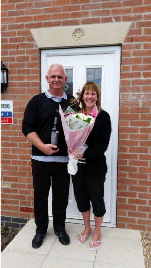 John and Lorraine Normington are the first residents to move intoThe Manor in Gilberdyke.